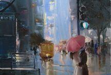 Noen flotte maleri / Svært flotte maleri. Ulike kunstnere og ulik sjanger. Mye til inspirasjon.