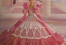 Barbie/ háčkované, pletené šaty