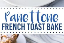 Panettone French Toast Bake with Crumb topping