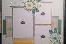 Scrapbook layouts - 3 pictures
