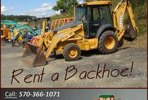 Backhoes / Ark Rentals can rent you all kinds of Backhoes! Allmand TLB-425 Allmand TLB-535 John Deere 310  Call: 570-366-1071 for Prices & Details! Email: Info@arkrentals.com