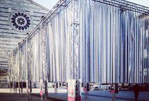 "Exhibit ""In cammino"" / ""In cammino"", exhibith lighting design Christmas 2016 - Piazza San Francesco, Lucca, Tuscany, Italy Concept: Domenico Raimondi - thesignlab Exhibit: Amandla Production, Allestend,  L'Impresa, Bocci Carta Print: Huevo Print"