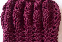 Gorros de croche e trico