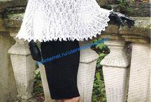 платье из мохера, пончо