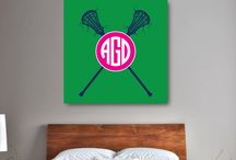 Lacrosse Rooms for Girls / Lacrosse themed bedrooms for girls and teens.  Duvet cover bedding sets, throw pillows, wall art prints, gallery wrapped canvases, shower curtains.