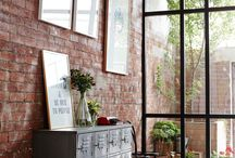 Exposed brick wall / by Denise Medved