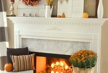 fall decorating / by Barb Nash Shanks
