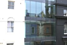 Project: Tontine Street / multiple levels of structural glass to the front facade of this commercial property in London