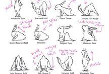yoga splits bunnies
