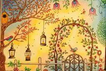 omalovánky: tajná zahrada