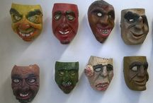 Maschere Tomats / Maschere legno tradizione mask Wood