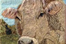 Rughooking Cows