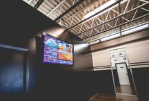 Next Level Achievements / Next Level Achievements operates (10) 70 inch Aurora Digital Signage advertising screens in a 130,000 sq. ft renovated space with 8 basketball/volleyball courts, indoor soccer fields, batting cages, training areas and 1,000 ft. track.