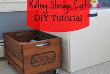Crates -- Repurposed -- Storage, Organization, bookcase etc. / by Katherine Gorshow