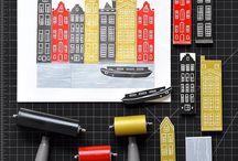 lino prints / Lino cut prints