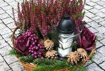 gyertyák, virágok