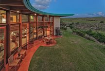 Frank Lloyd Wright HAWAII / The only FLW residence constructed in Hawaii. A stunning volcanic landscape comes to life in an architectural masterpiece. http://www.southkohala.com/vacation-rentals/frank-lloyd-wright-house#.V9OZtzvudps