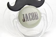 Personalized PacIfier 'n Clips / Personalized PAcifier and Personalized PAcifier Clips or both as a gift set