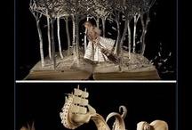 Arte, artesanía y decoración con libros / Objetos realizados con libros usados / by Gemma Xifré