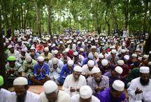 """مسلمو الروهينغا النازحون يُؤدون صلاة العيد في مخيم """"كوتوبالونج"""" بالمنطقة الحدودية مع #بنغلاديش رغم الألم وسوء الأوضاع الإنسانية"""