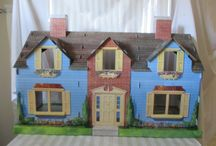 Cardboard Dollhouses / I am researching all kinds of dollhouses and just learning about cardboard ones.