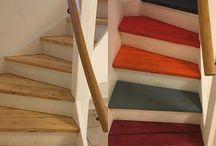 Renovering trappe / Træ og maling