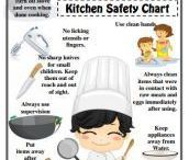 Kitchen and food safety / Kids safety in the kitchen, safety rules for cooking with kids