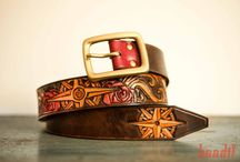 Tooled leather belts / Custom leather belts for men and women. Hamdmade with nice designs