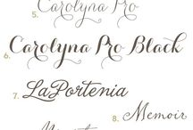 Pretty Fonts / Font Collections / by Seneca Hart