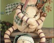 šité dekorace zimní vánoce