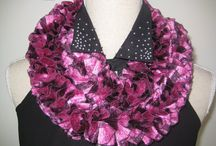Sophisticated Ruffle Scarf Pink Shades Maroon