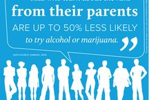 Talk Early, Talk Often / Kids who learn about the risks from their parents are up to 50% less likely to try alcohol or marijuana. --SAMHSA, 2009 (Substance Abuse and Mental Health Services Administration)
