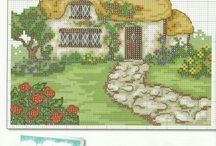 Cottage punto croce