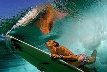 Mucho Aloha / Surfing is my favorite. I would love to wake up in the mornings and surf! I've been surfing in California, Maui and Florida.