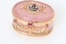 Jeweled Boxes / Beautiful Examples of Jewelry boxes and Jeweled boxes. Sold at Auction by, John Moran Auctioneers, Pasadena, CA