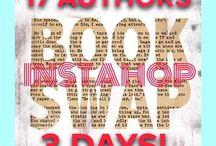 Multi-author Events / Facebook Parties, Hops (Blog, Instagram, Facebook), Book Auctions, Giveaways