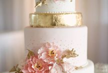 Gold and pastel