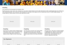 Example Layouts / Shows example layouts for your organizations web site.