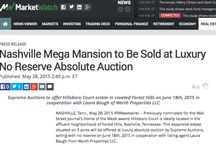 In the News! / News about our High End Luxury Auctions. Offered Absolute at No Reserve