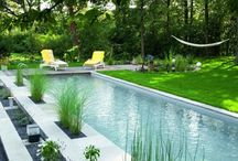pool u Garten