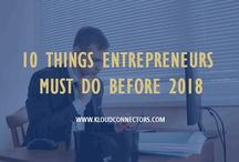 10 Things Entrepreneurs Must Do Before 2018