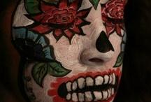 Dia de los Muertos facial paint