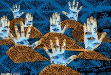 La Terre s'envole / Artwork - illustration - Design -  Surrealist illustration from Morocco