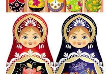 Mis muñecas favoritas / matrioskas, mexicanas, fofuchas, de tela