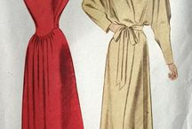 1930s 1940s / Vintage sewing patterns and fashion.