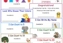 Certificates for Pre Schoolers
