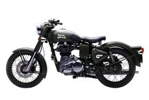 ROYAL ENFIELD CLASSIC BATTLE GREEN / The Classic Battle Green comes to you with a paint scheme reminiscent of the War era, a time when Royal Enfield motorcycles proved their capabilitities and battle worthiness by impeccable service to soldiers.