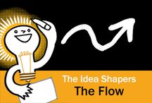 The Idea Shapers: The Flow / In her 2016 book The Idea Shapers, Brandy Agerbeck makes visual thinking attainable and enjoyable through a set of 24 Idea Shapers. The Flow is the third visual thinking concept in the third step, CONNECT + CONTAIN.