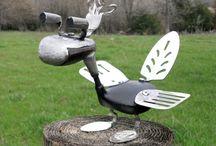 Recycled Garden Art