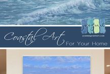 Mini Paintings / miniature ocean paintings